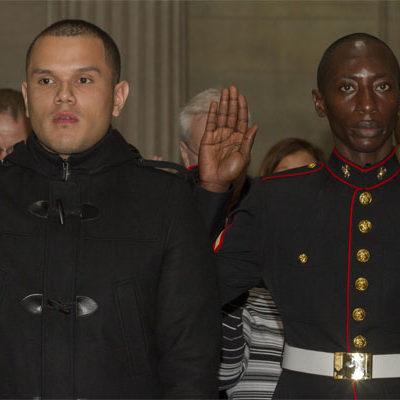 Bronx Marines Become U.S. Citizens