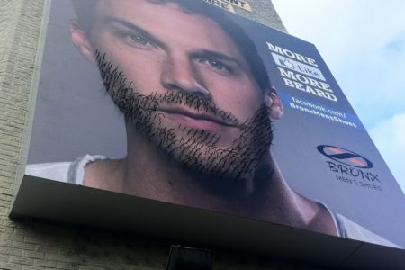 Bronx Men's Shoes Beard Growing Billboard