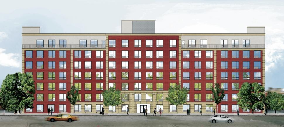 The proposed apartment complex.