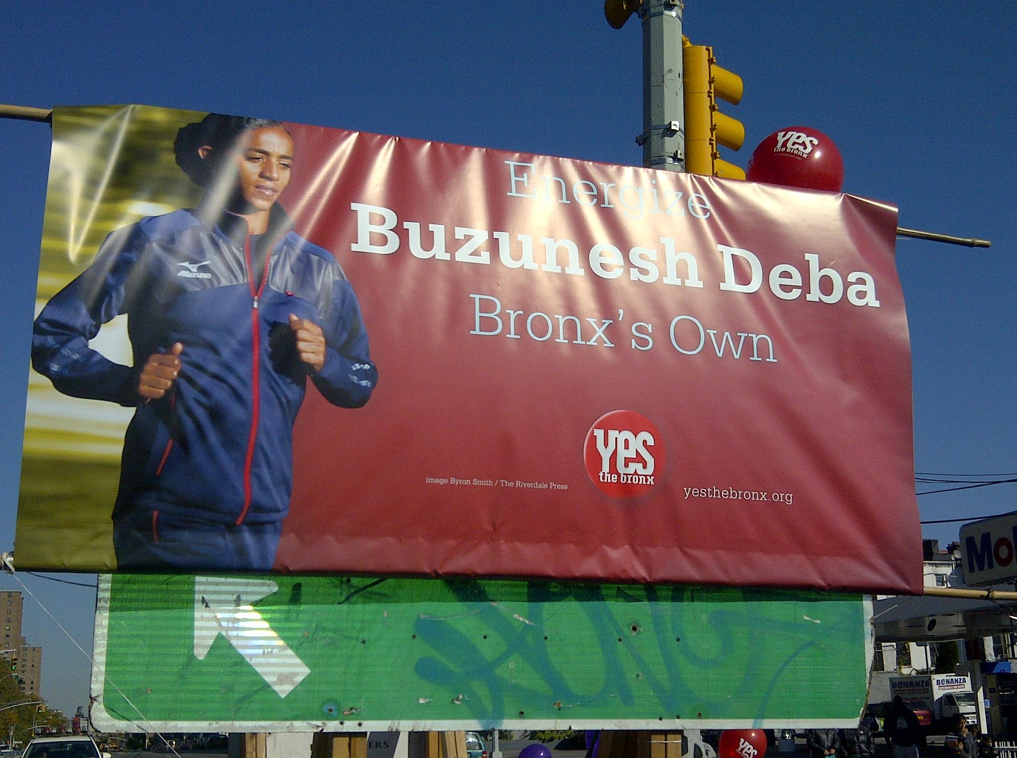 Honoring Ethiopian-born Kingsbridge resident Buzunesh Deba.