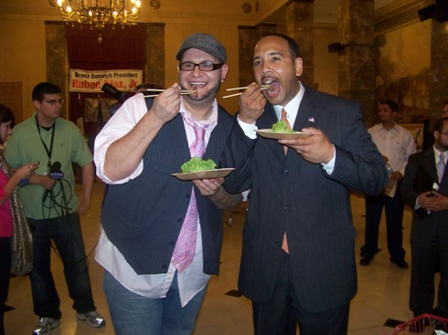Bronx Borough President Ruben Diaz, Jr and Michael Proietti.