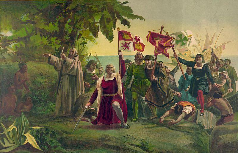 Christopher Columbus' landing.