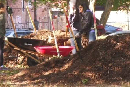College Students Help Spruce Up Claremont Park