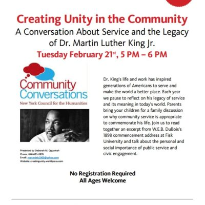 Creating Unity In The Community
