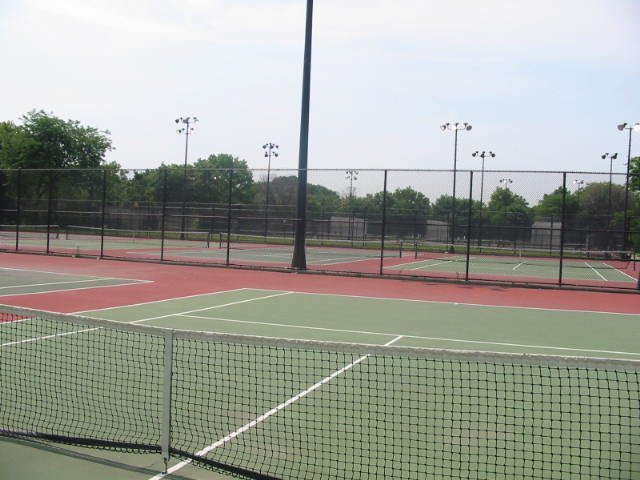 Tennis Courts in Crotona Park