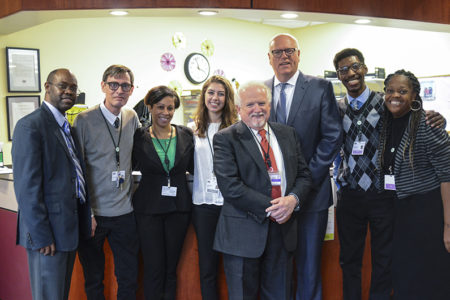 Congressman Joseph Crowley Visits the Institute's Center For Counseling In Bronx