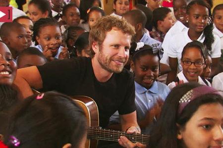 Dierks Bentley Visits School In Bronx