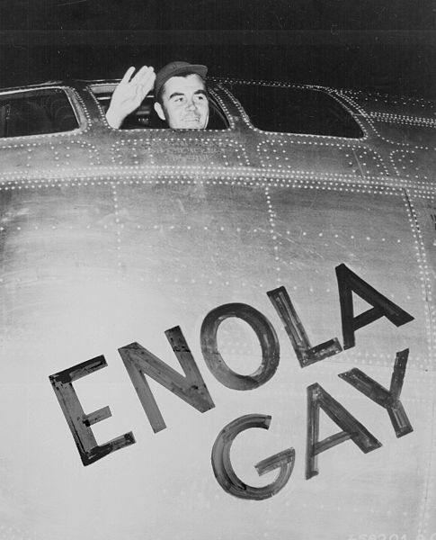 The Enola Gay is the B-29 Superfortress bomber that dropped the first atomic bomb.