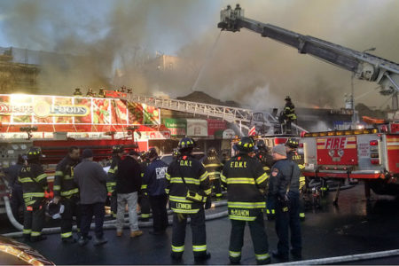 5-Alarm Fire Destroys Several Bronx Stores