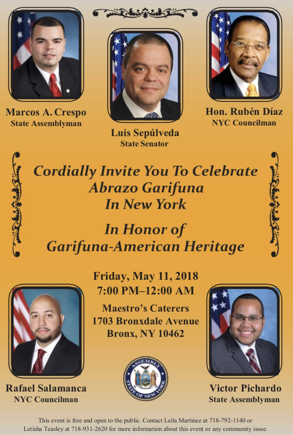 "Celebration Of The 8th ""Abrazo Garifuna In New York."""
