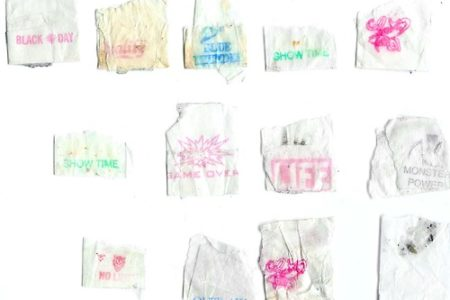 Heroin Stamp Art Project