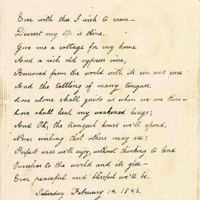 Virginia Poe's Valentine To Edgar