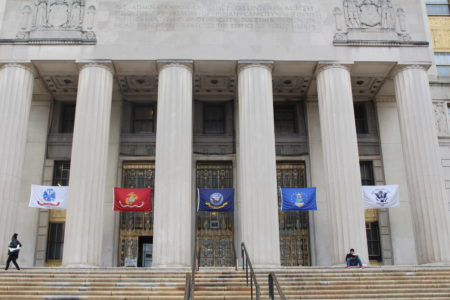 NYC Kicks Off Veterans Week By Displaying Military Service Branch Flags