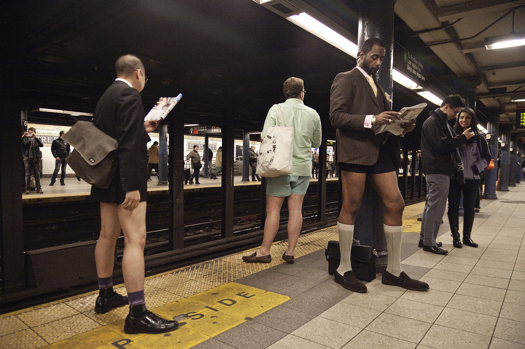 13th annual International No Pants Subway Ride Day