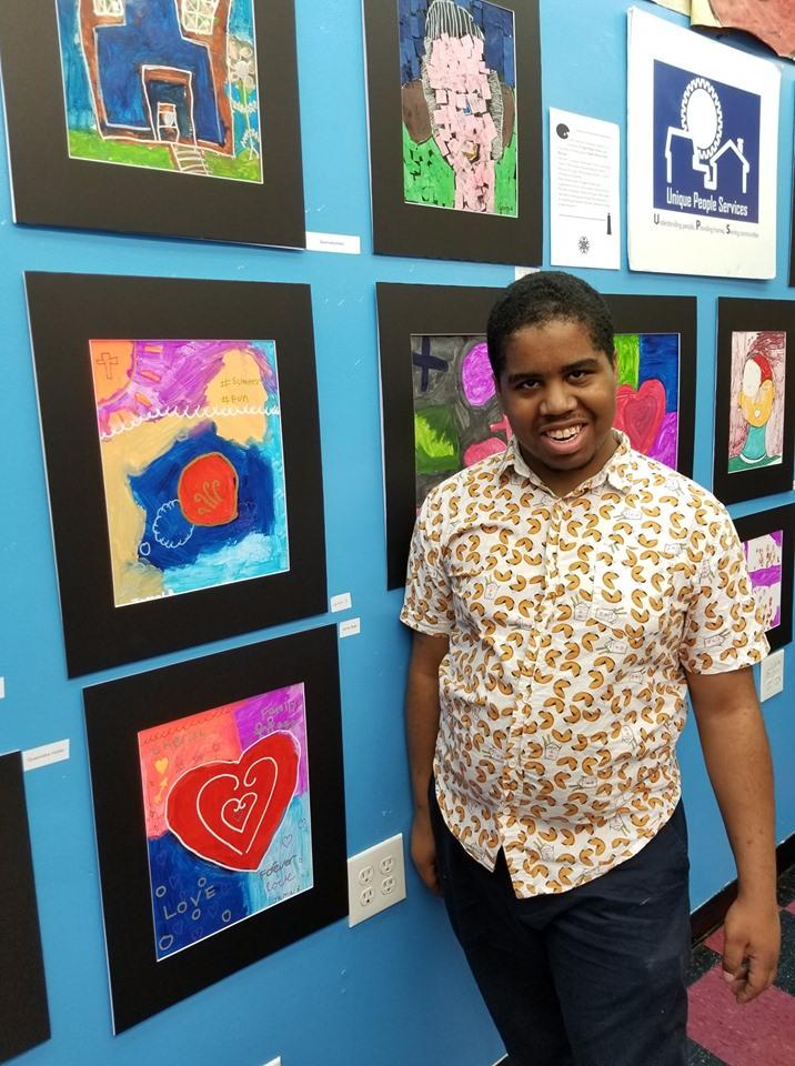 Unique People Services Hosts Art Exhibit