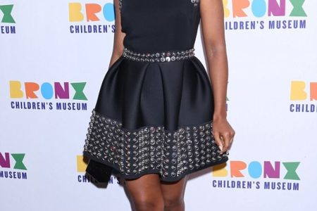 Kerry Washington Parades Her Slender Stems In Metal Embellished Minidress At Bronx Children's Museum