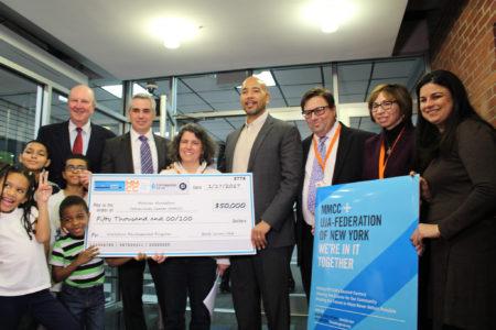 BP Diaz & Bank Leumi USA Present $50K Check To Mosholu Montefiore Community Center
