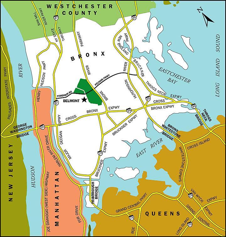 Little Italy, Bronx New York map.