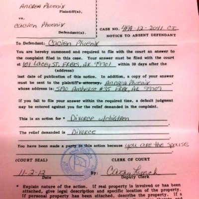 Notice To Absent Defendant