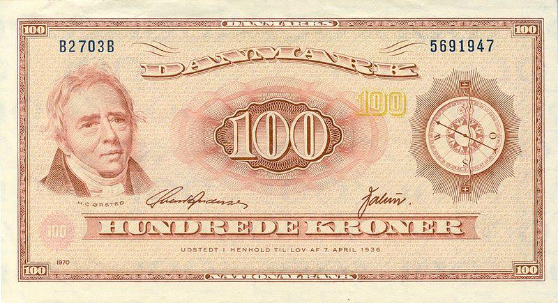 The Danish 100 kroner bill of 1952.