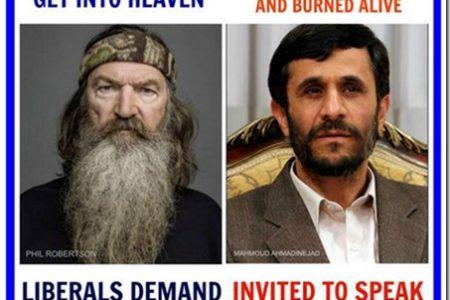 Phil Robertson vs. Ahmadinejad