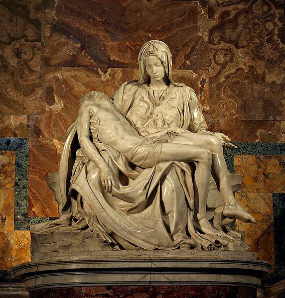 Pietà by Michelangelo di Lodovico Buonarroti Simoni.