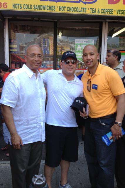 Mayoral Candidate Bill Thompson, J&M Attorney Gustavo Alzugaray & Bronx Borough President Ruben Diaz, Jr.