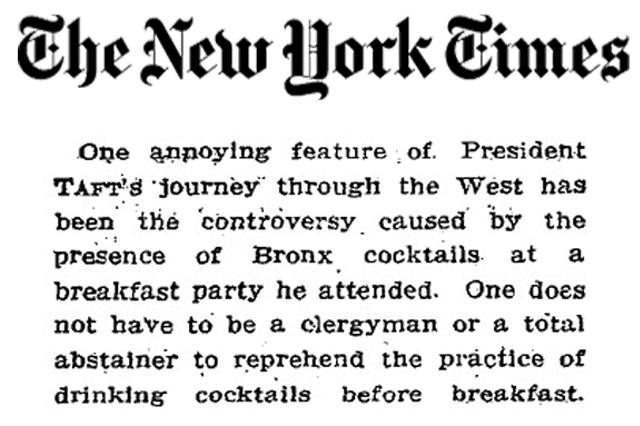 Forget Manhattans, Drink A Bronx