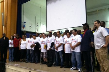 Bronx Dads Take Their Kids To School Day At PS 73