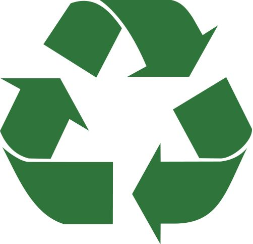 The universal recycle symbol.