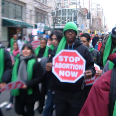 Students In The Annual March For Life