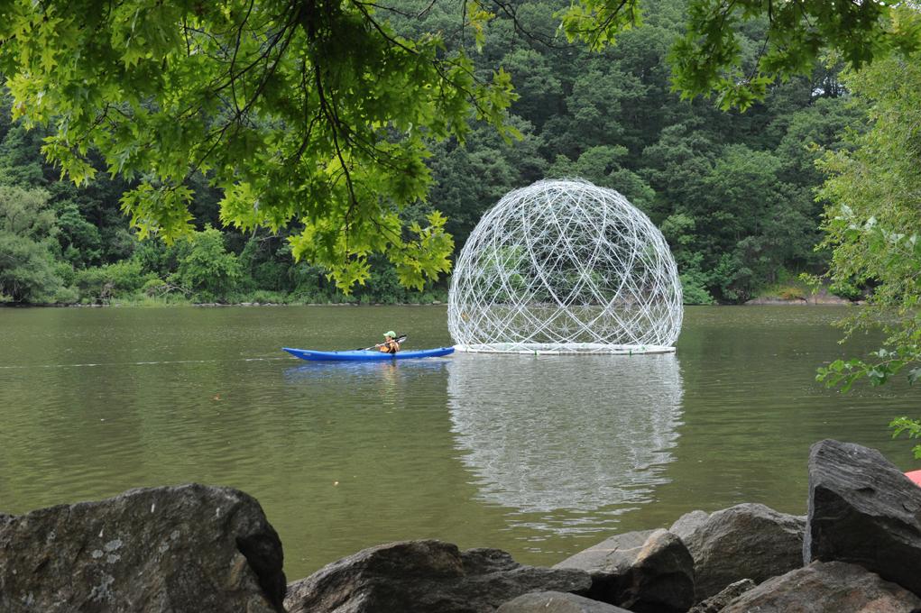 Broken Umbrellas Transform Into A Floating Art Project In Bronx