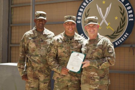 Staff Sergeant Ugarte Received A Battle Field Promotion