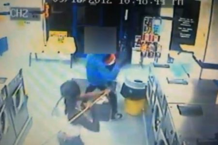 Stick Fight Robbery In Bronx Laundromat