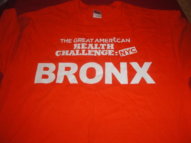 Team Bronx's t-shirt.
