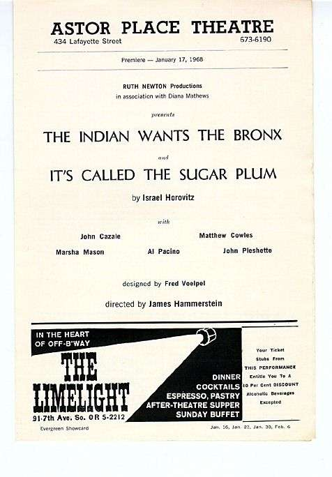 The Indian Wants The Bronx, 1968