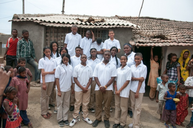 TLT students in the Siddi village.