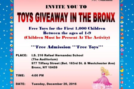 "Invitation To ""Toys Giveaway 2016"""
