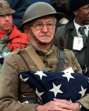 Joseph Ambrose, an 86-year-old WW I veteran.