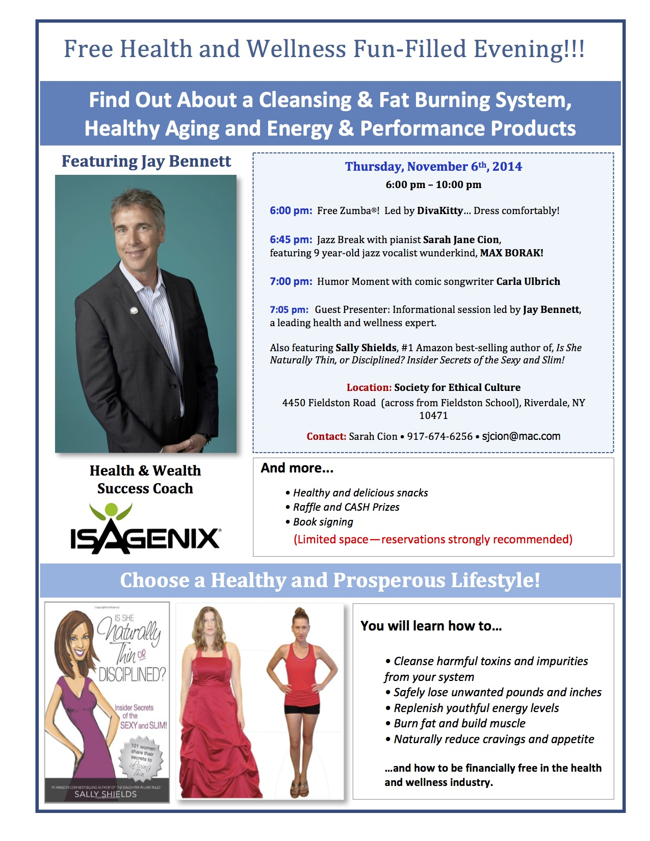 Free Event: National Health & Wellness Day, November 6
