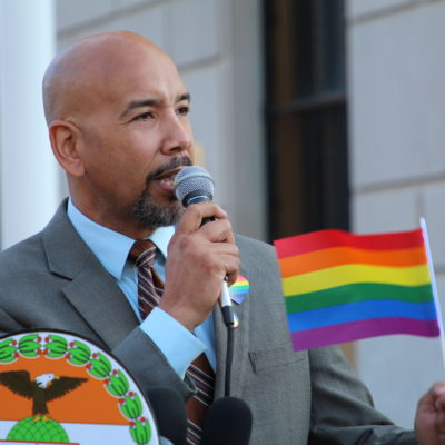 Raising The Rainbow Flag At The Bronx County Building