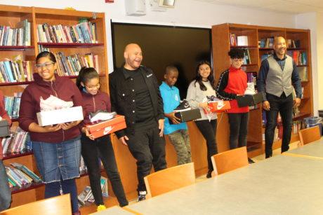 Borough President Diaz & Fat Joe Distribute Sneakers To Students