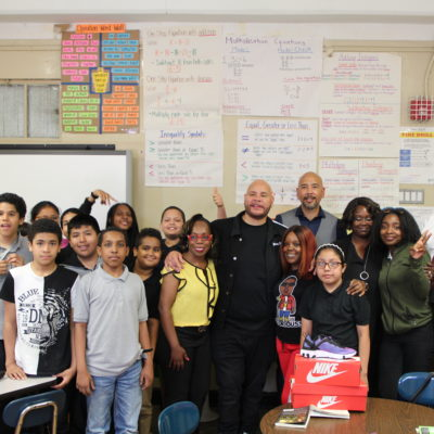 Borough President Diaz & Fat Joe Distribute Sneakers To Students
