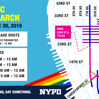 NYPD Holds Heritage Of Pride March Security Briefing