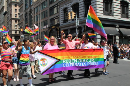 BP Diaz Participates In NYC Pride March