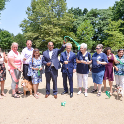 NYC Parks Unveils New Bronx River Park Dog Run