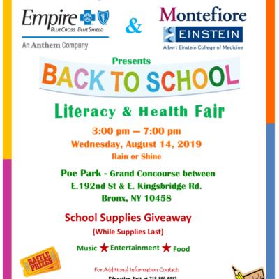 Back To School Literacy & Health Fair