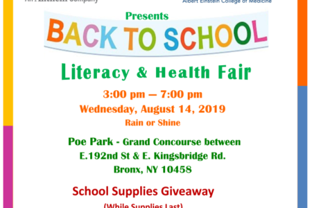 Back To School Literacy & Health Fair