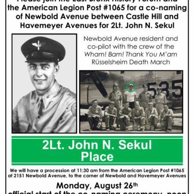 2Lt. John N. Sekul Place Street Naming Celebration