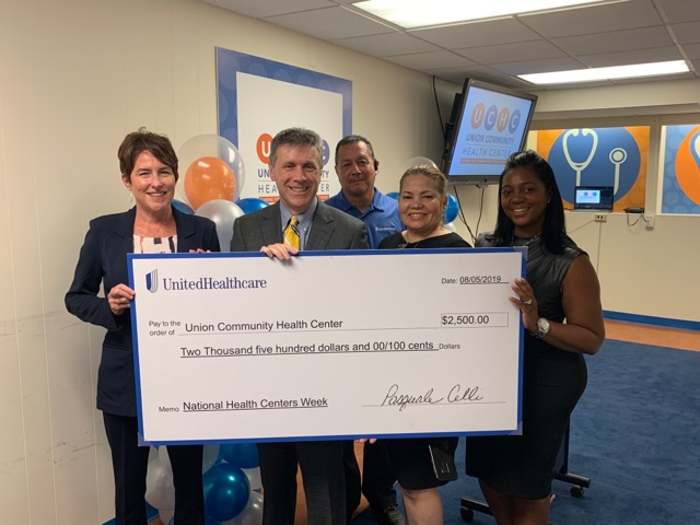 Union Community Health Center Receives A $2.5K Donation From UnitedHealthcare